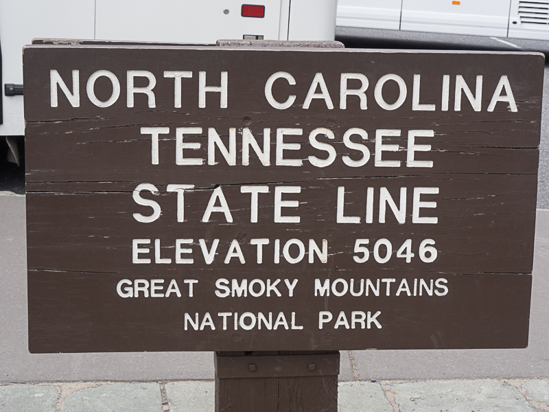 The Smoky Mountain National Park goes from Tennessee to NC