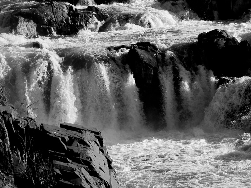 Great Falls -- first attempt at B&W (done in LR)